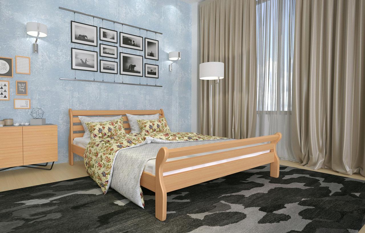 Кровать Двуспальная из дерева сосна 140*190 Аркадия MECANO цвет Светлый орех 3MKR01