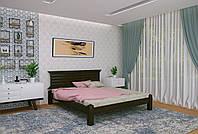 Двуспальная Кровать из дерева сосна 160*200 Гефест MECANO цвет Венге 7MKR019