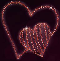 "3D светодиодная LED фигура ""Сердце"" 150X150cm"
