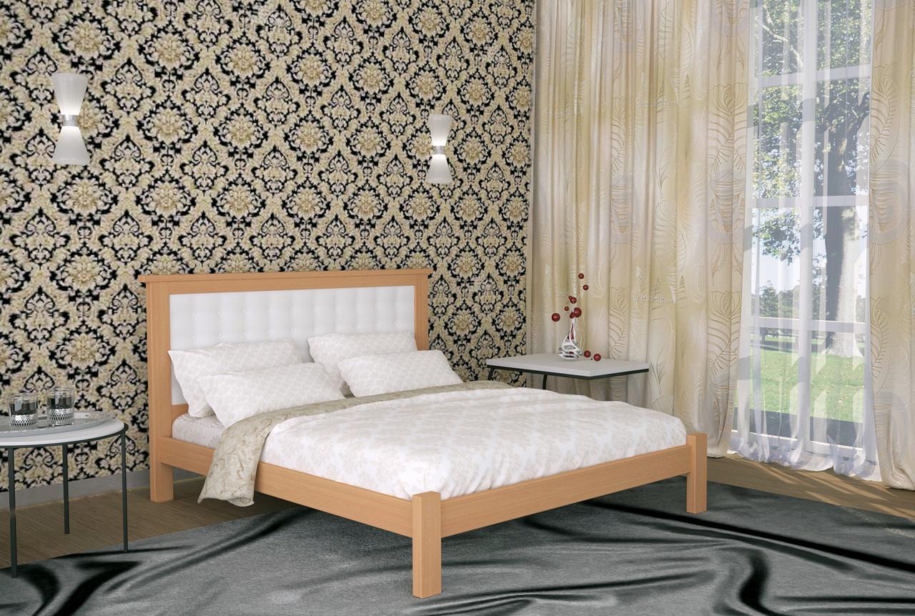 Двуспальная Кровать из дерева сосна 160*200 Дионис MECANO цвет Светлый орех 10MKR08