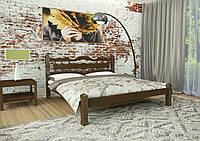 Кровать двуспальная из дерева сосна 180*190 Арис MECANO цвет Темный орех (2MKR03), фото 1