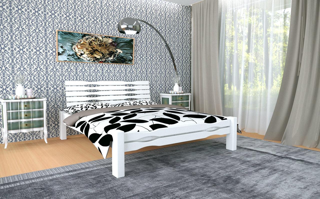Двуспальная Кровать из дерева сосна 120*200 Веста MECANO цвет Белый 4MKR026