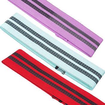 Ленты сопротивления набор 3шт LOOP BANDS FI-1725 (полиэстер, р-р 60x8см, 70х8см, 80х8см, цвета в ассортименте)