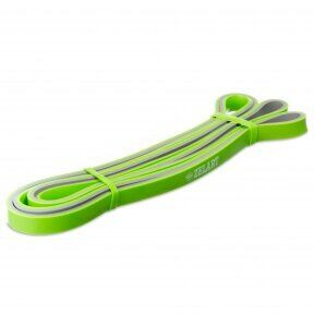 Резина для подтягиваний двухслойная (лента силовая) FI-0911-2 DUAL POWER BAND (размер 2080x13x4,5мм, жесткость XXS, зеленый)