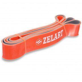 Резина для подтягиваний двухслойная (лента силовая) FI-0911-7 DUAL POWER BAND (размер 2080x45x4,5мм, жесткость L, оранжевый