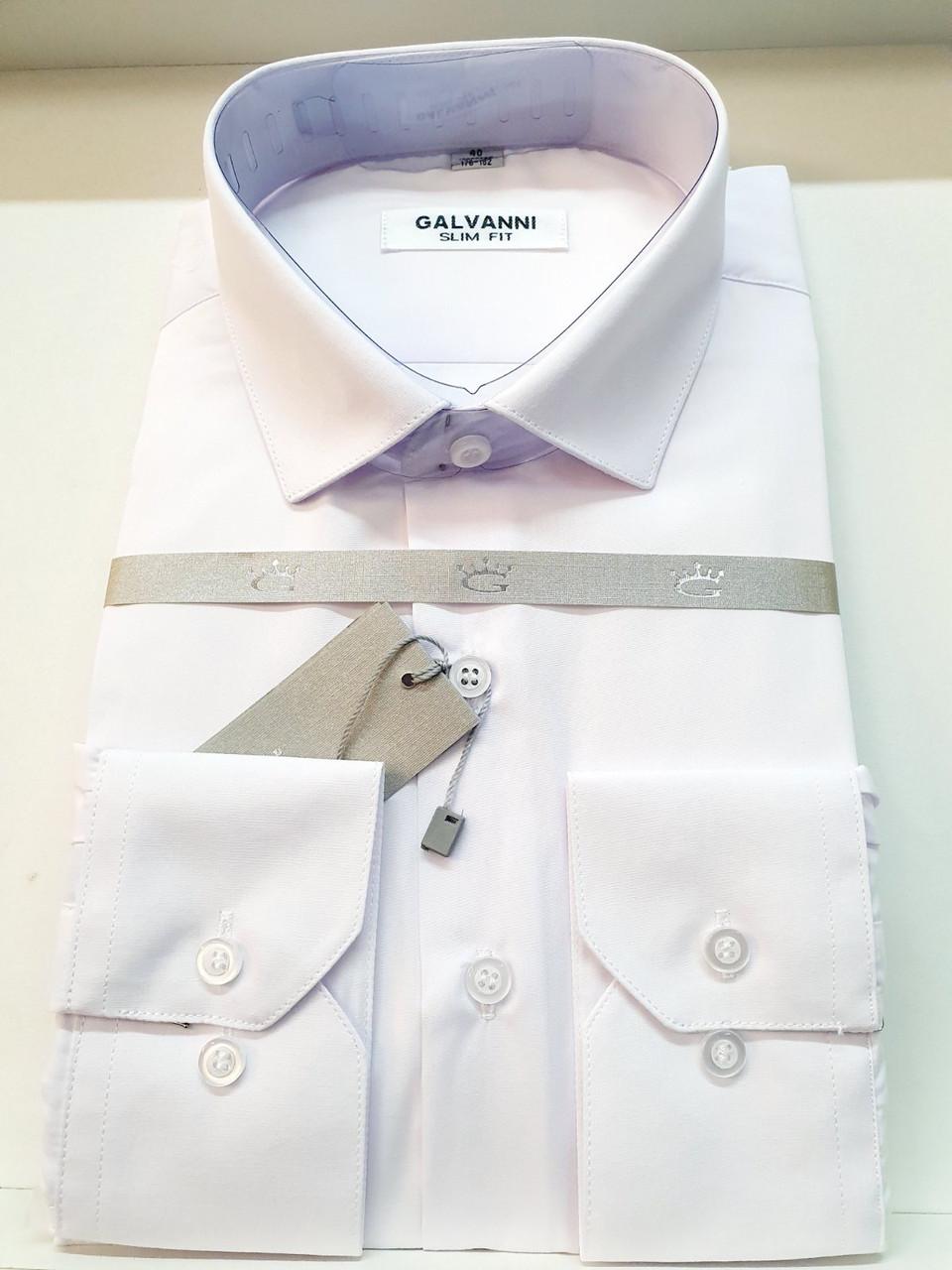 Однотонна чоловіча сорочка Galvani