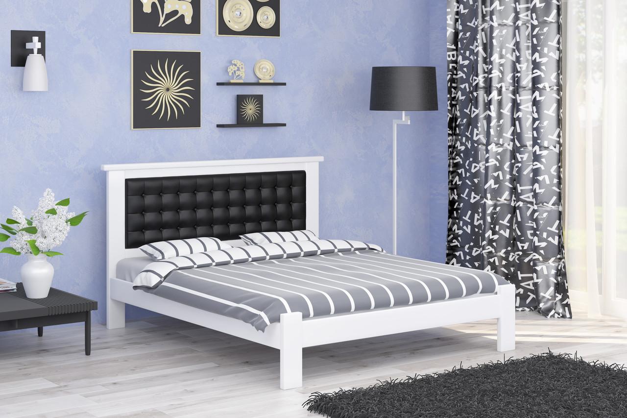 Двуспальная Кровать из дерева сосна 160*190 Дионис MECANO цвет Белый 10MKR022