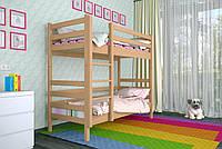 Двухъярусная кровать из дерева Сосна 80*190 Дуос Классик MECANO цвет Светлый орех 11MKR04