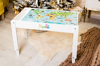 Световой стол-песочница Noofik (МДФ крашенный). Комплект Базовый.