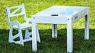Детский Световой стол-песочница для анимации Noofik (МДФ, белый) и стульчик., фото 2