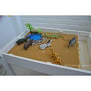 Детский Световой стол-песочница для анимации Noofik (МДФ, белый) и стульчик., фото 7