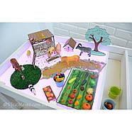 Детский Световой стол-песочница для анимации Noofik (МДФ, белый) и стульчик., фото 9