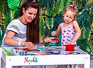 Детский Световой стол-песочница для анимации Noofik (МДФ, белый) и стульчик., фото 10