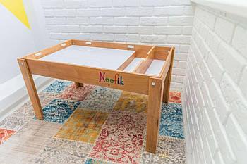 Световой стол-песочница Noofik (дерево ольха). Комплект Базовый.