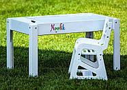 Детский растущий стульчик Noofik для световых столов (МДФ, белый), фото 2