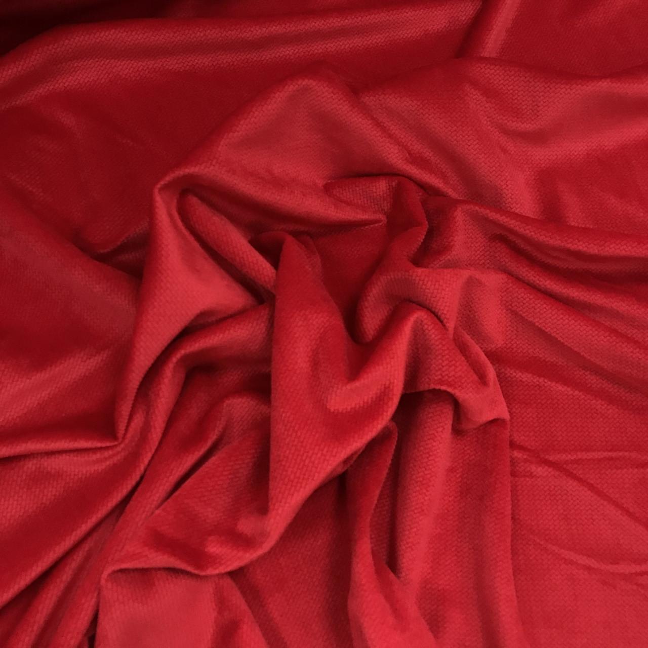Minky Вельвет красный