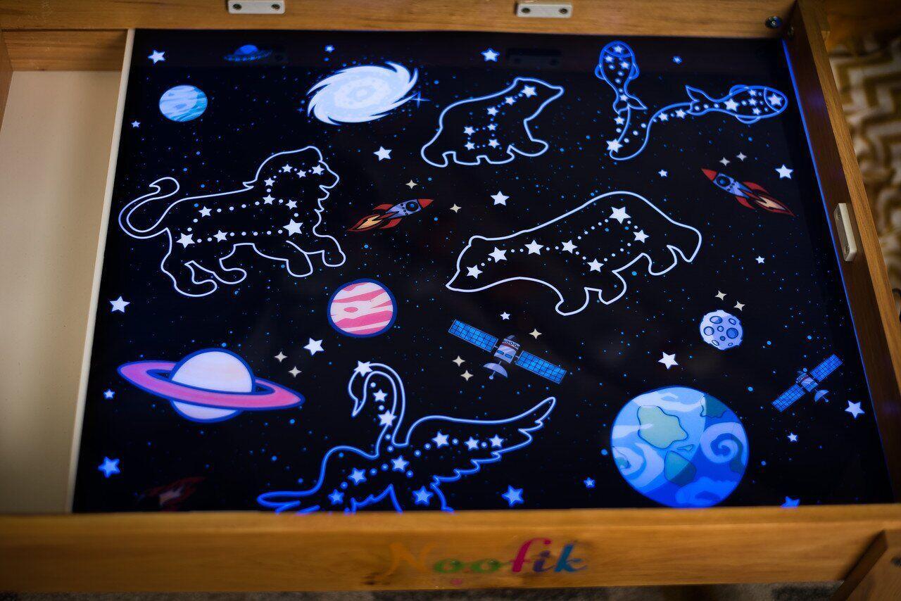 """Игровое поле на световую поверхность """"Звездное небо"""" Noofik"""