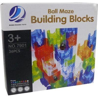 Головоломка конструктор лабиринт с шариками Нано лабиринт (Building Blocks), 48дет