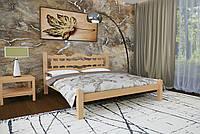 Кровать Двуспальная из дерева сосна 180*200 Арис MECANO цвет Светлый орех 2MKR016
