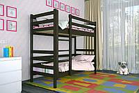 Двухъярусная кровать из дерева Сосна 80*190 Дуос Классик MECANO цвет Венге 11MKR011