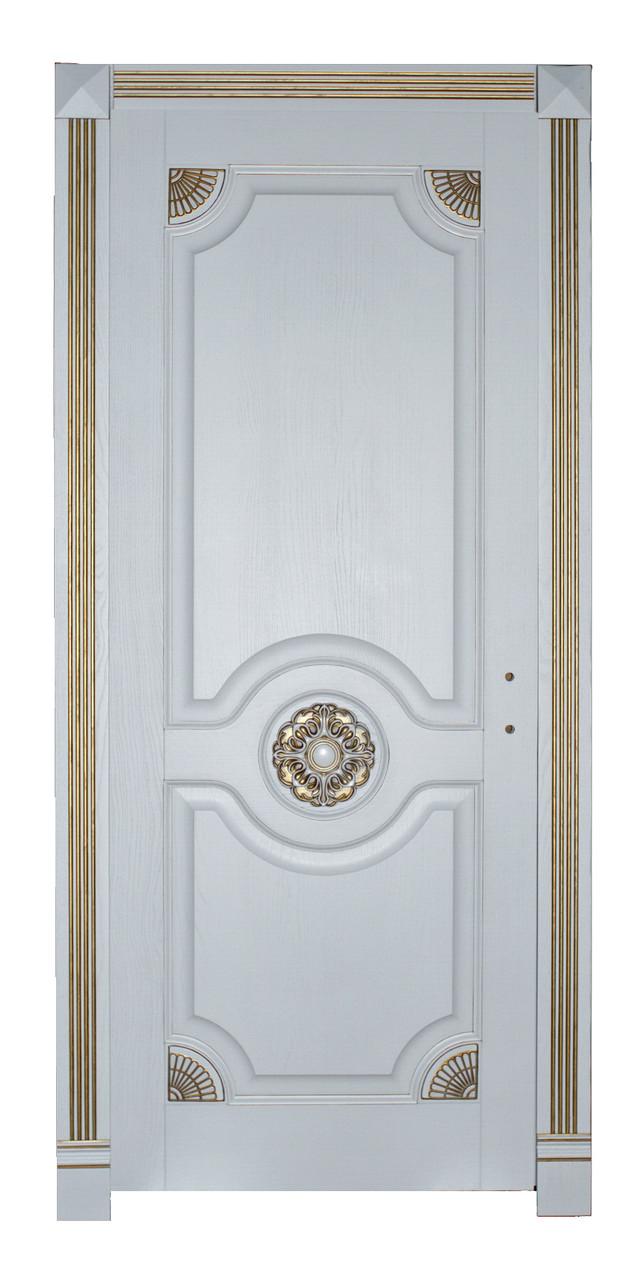 Двери межкомнатные деревянные, с массива ясеня, дуба, ольхи. Мод. 1311