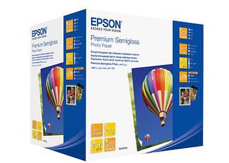 Фотобумага EPSON Premium Semiglossy Photo Paper полуглянцевая 251г/м2 10х15см 500л (C13S042200)