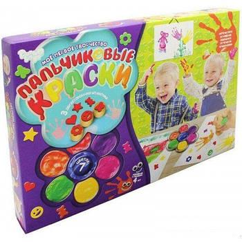 Пальчиковые краски, 7 цветов (Danko Toys PK-01-01)