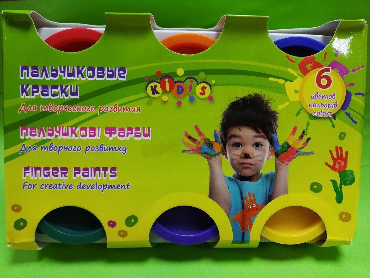 Краски пальчиковые Kidis 8868