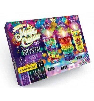 Набор для творчества magic candle crystal парафиновые свечки с кристалами Mgc-02-01