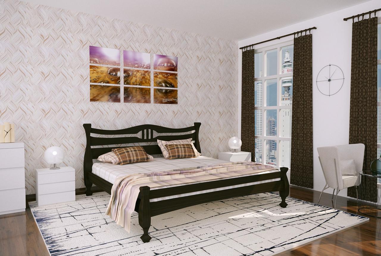 Двуспальная Кровать из дерева сосна 140*200 Кронос MECANO цвет Венге 14MKR029