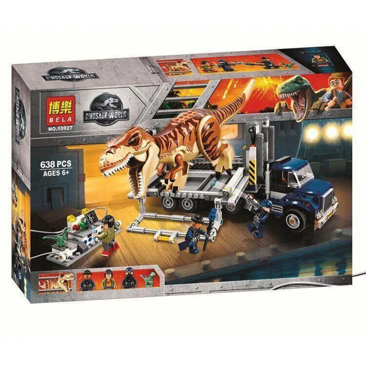 "Конструктор Bela 10927 ""Транспорт для перевозки Тираннозавра"" 638 дет. (аналог Lego Jurassic World 75933)"