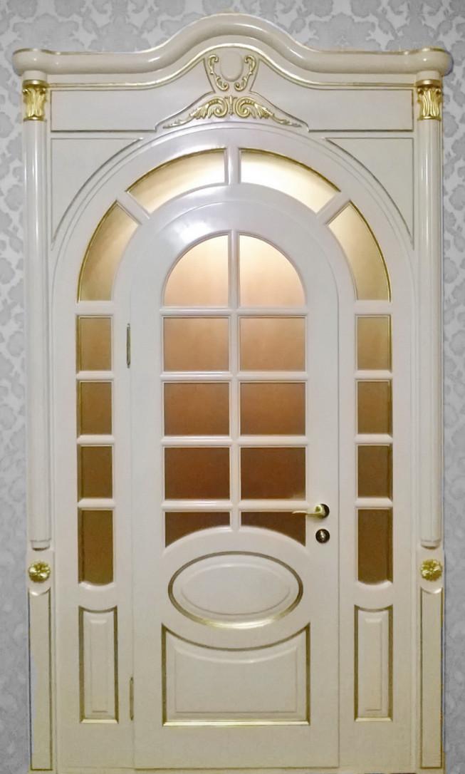 Двери межкомнатные деревянные, с массива ясеня, дуба, ольхи. Мод. 1313