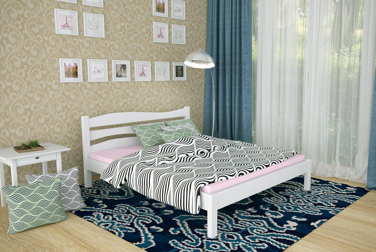 Двуспальная Кровать из дерева сосна 120*190 Посейдон MECANO цвет Белый 18MKR032