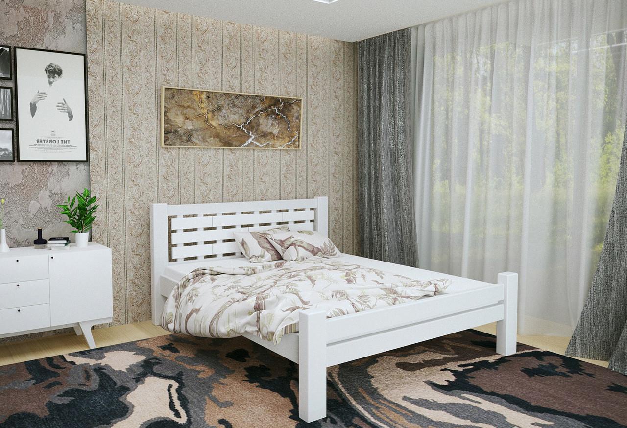Двуспальная Кровать из дерева сосна 180*190 Гастия MECANO цвет Белый 6MKR023