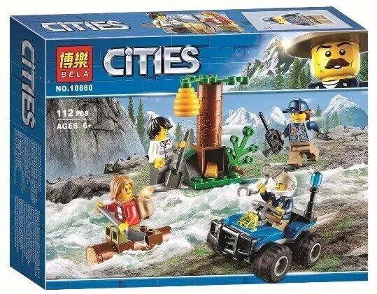 """Конструктор Bela 10860 (аналог лего City 60171) """"Убежище в горах"""", 112 дет"""