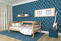 Кровать детская из натурального дерева сосна 90х200 Лёва MECANO цвет Светлый орех 15MKR03