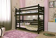 Двухъярусная кровать из дерева Сосна 90*190 Лилу Классик MECANO цвет Венге 16MKR014