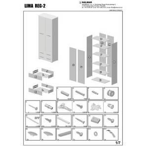 Стелаж LIMA REG2 77*200(белый) (Halmar), фото 2
