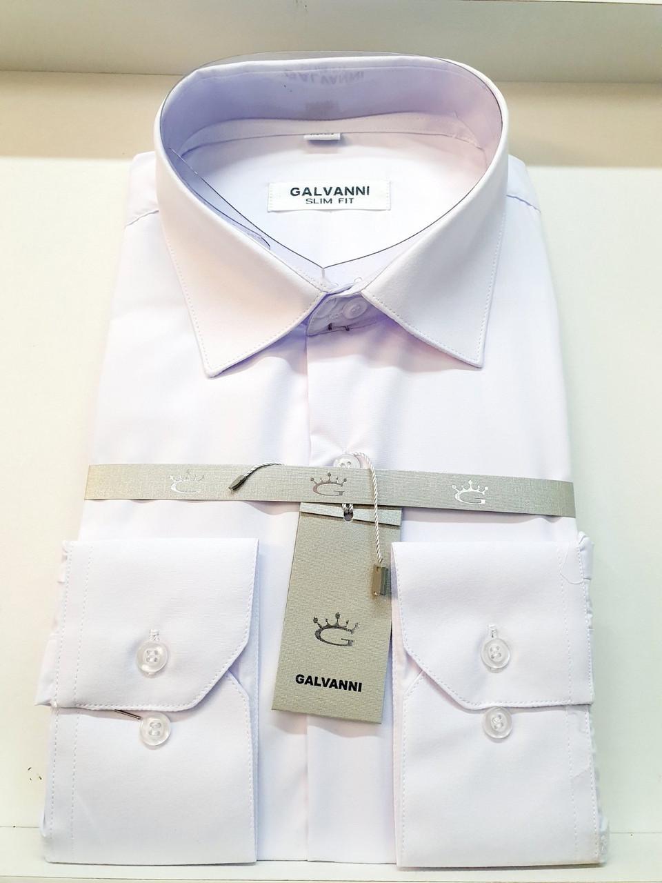 Сорочка біла з довгим рукавом Galvanni