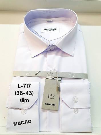 Сорочка біла з довгим рукавом Galvanni, фото 2