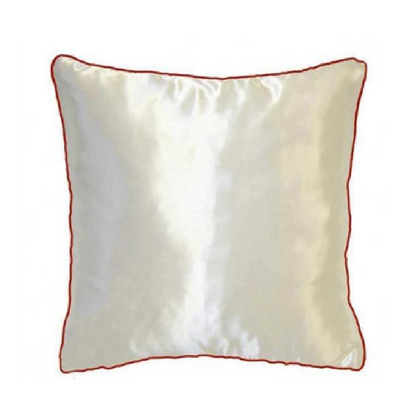 Подушка атлас с цветным кантом 35*35