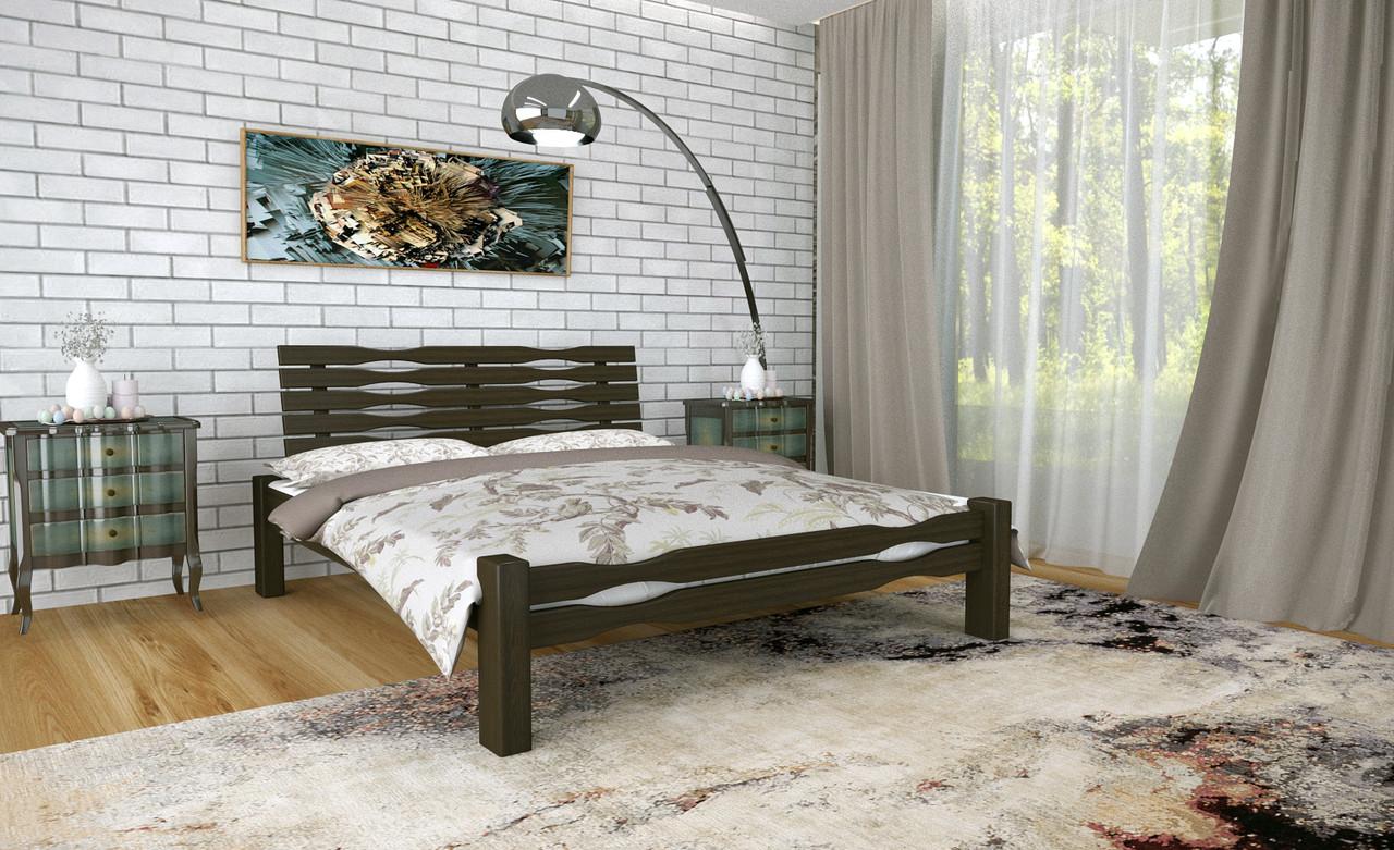 Двуспальная Кровать из дерева сосна 120*200 Веста MECANO цвет Венге 4MKR022