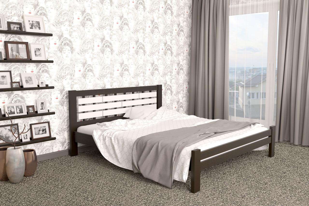 Двуспальная Кровать из дерева сосна 180*200 Гастия MECANO цвет Венге 6MKR013