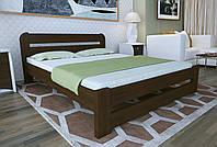 Двуспальная Кровать из дерева сосна 140*200 Престиж MECANO цвет Темный орех 19MKR014