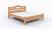 Двуспальная Кровать из дерева сосна 180*200 Тейя MECANO цвет Светлый орех 21MKR04