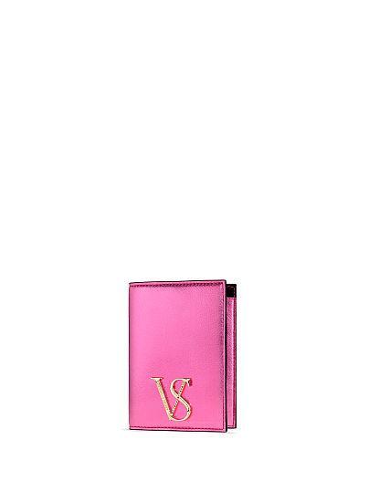 Victoria's Secret обложка для паспорта розовый металлик оригинал