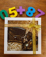 """Набор """"Колокольчик и портфель"""" - молочный шоколад"""