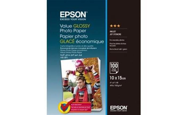 Фотопапір EPSON Value Glossy Photo Paper глянсова 183г/м2 10х15см 100л (C13S400039)