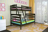 Двухъярусная кровать Деревянная массив сосны 140х90х200 Кай MECANO цвет Венге 12MKR09