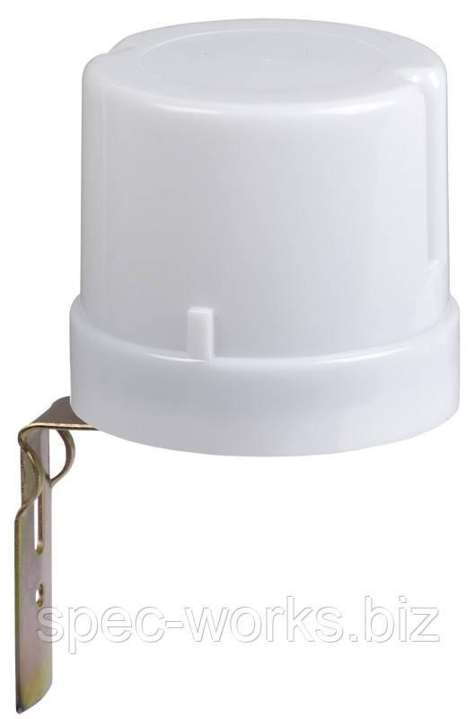 Фотореле датчик світла ФР 602 сірий, макс. навантаження до 2500 Вт, IP44